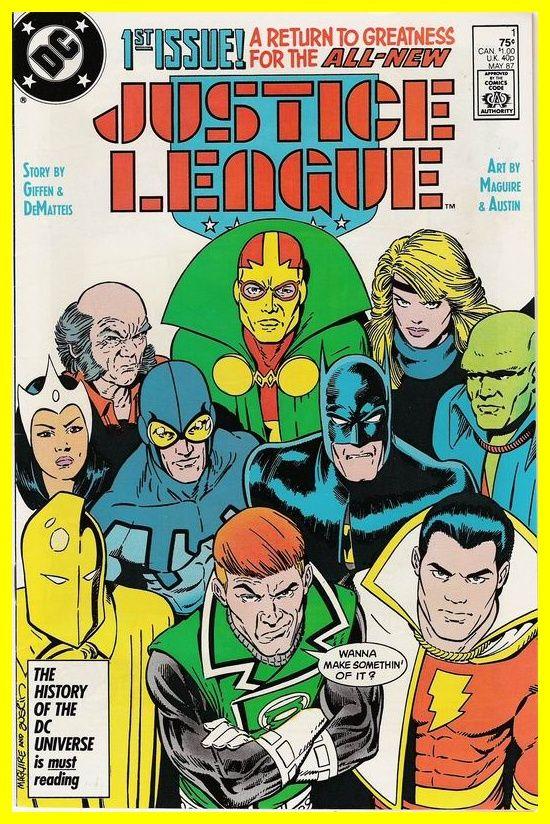 Justice League America 1987 series # 53 very fine comic book