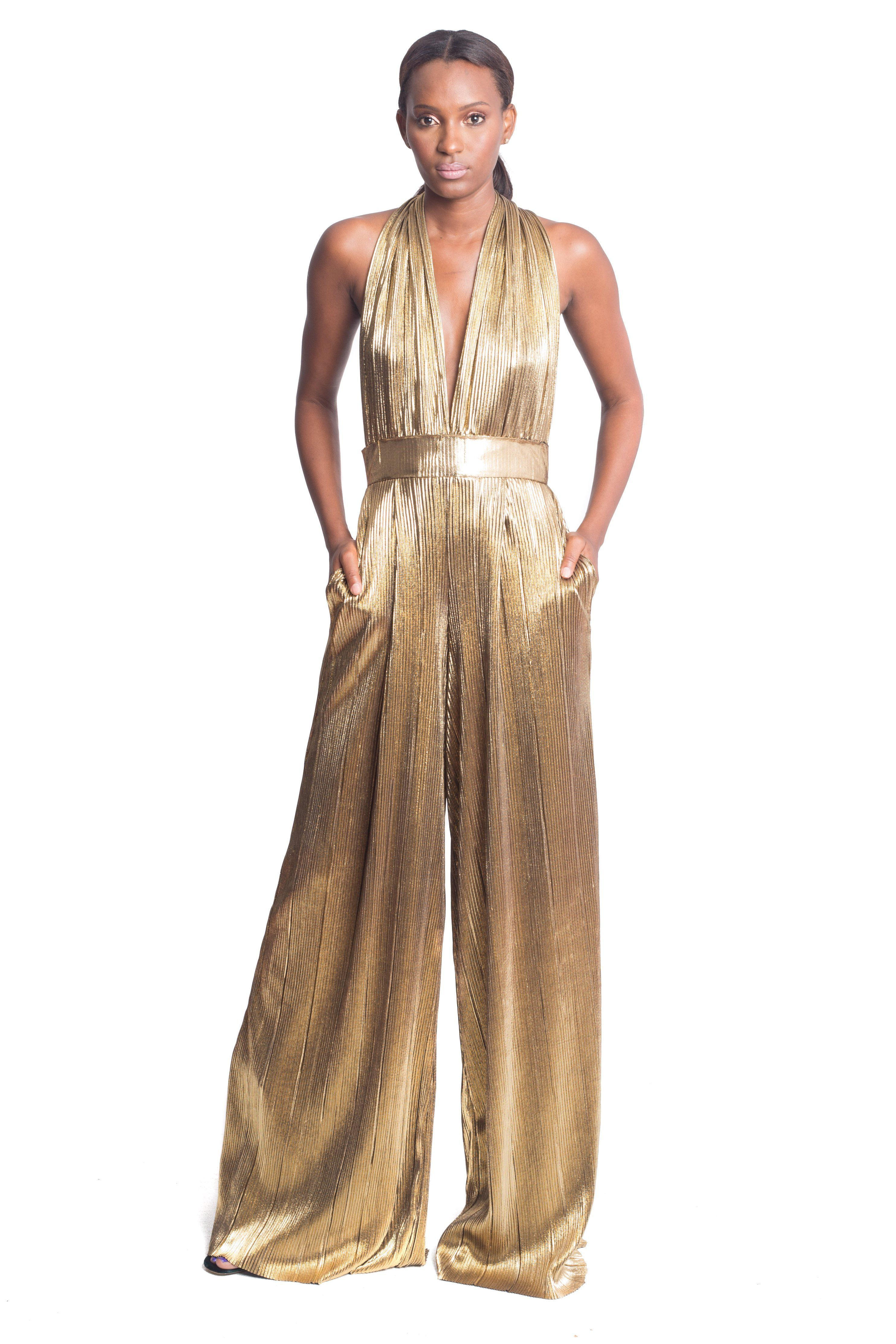 dc5d65b372396 Beverly Gold Jumpsuit (50% Down Payment  194)