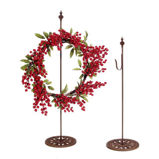 Consumercrafts Product Metal Wreath Stand Rusted 24 In Wreath Stand Wreath Hanger Living Wreath