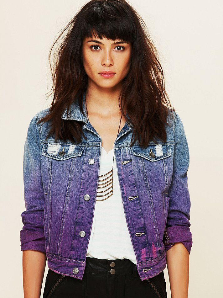 Free People Ombre Wash Denim Jacket... I can customize my own & save money ;)