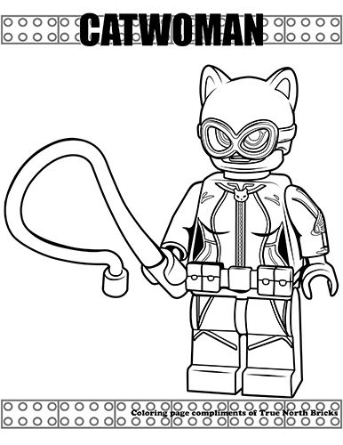 Free Lego Catwoman Coloring Page Pages