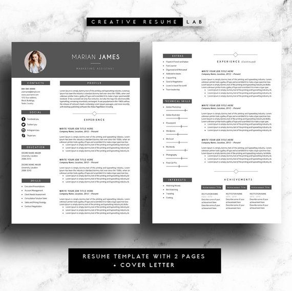 marian professional resume template