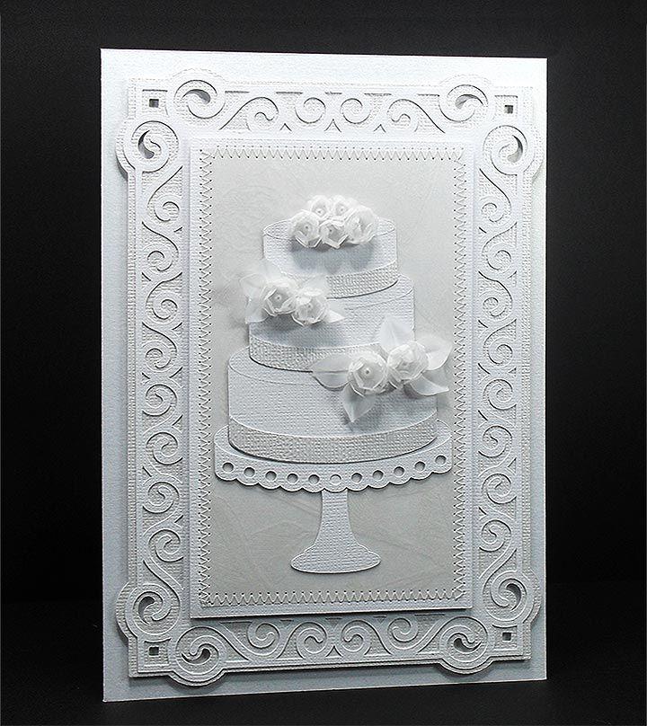 wedding cake & stand card 7