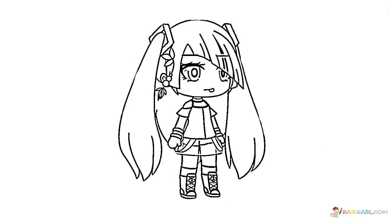 Gacha Life Coloring Pages Unique Collection Print For Free Coloring Pages Anime Drawings Sketches Coloring Pages For Girls