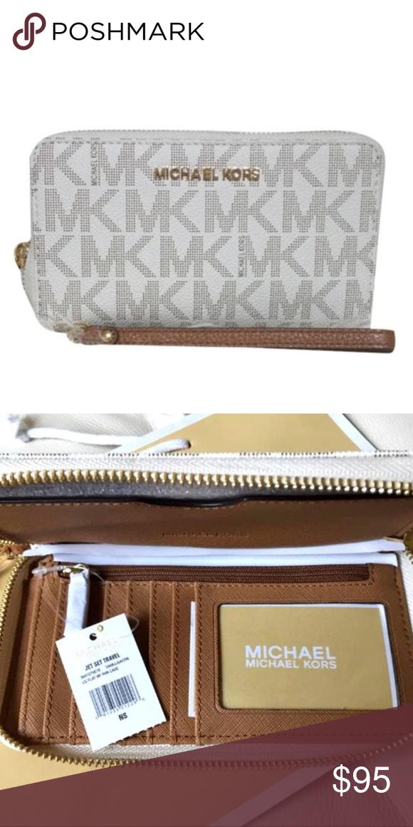 5277180855f3 Michael Kors Van/Acorn IPhone Wristlet Wallet Fits iphone 7/8 plus and large