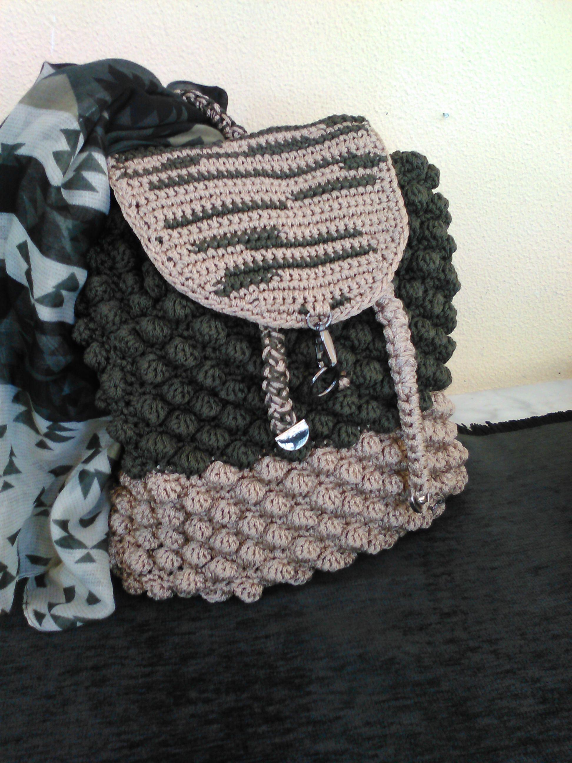 d690b337f9 Πλεκτή τσάντα - σακίδιο πλάτης