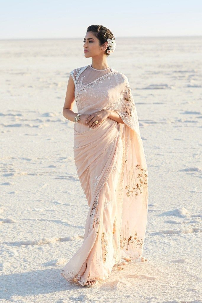 Photo of blush pink Anita Dongre wedding saree. Click on the picture to Anita Do …