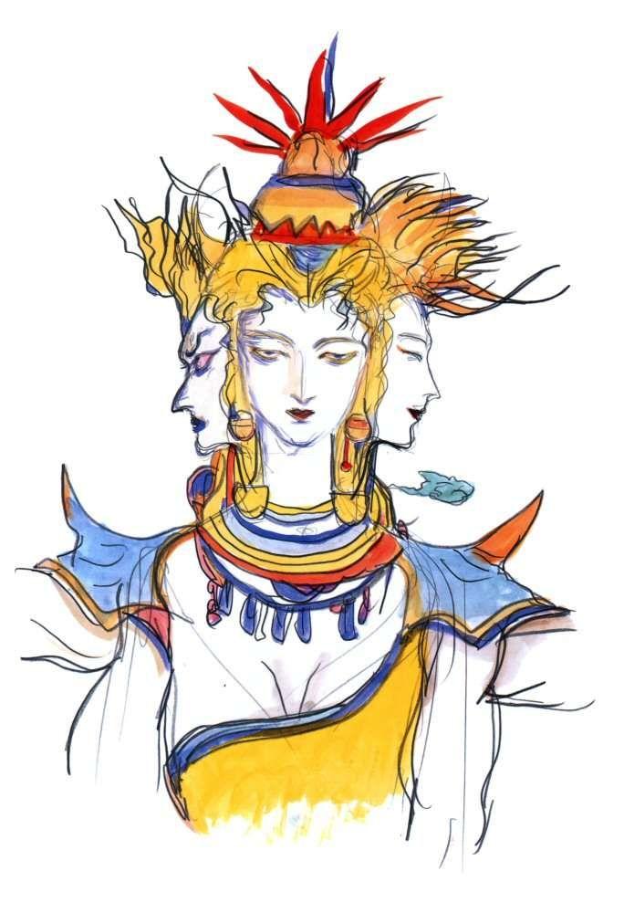 Yoshitaka Amano Asura Final Fantasy Iv Final Fantasy Art Character Art Final Fantasy Iv