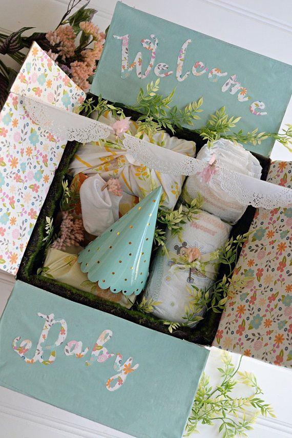 Baby shower gift box personalized baby gift box gift baby girl baby shower gift box personalized baby gift box gift negle Choice Image