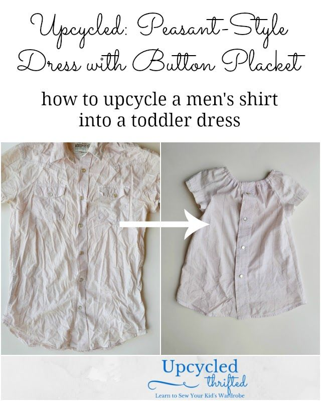 Upcycled: Peasant-Style Dress with Button Placket | Peasant dresses ...