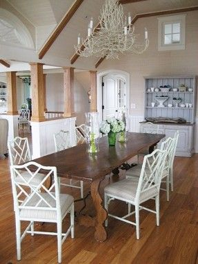 Mixing Faux Bamboo Chairs With Upholstered In Dining Room Google Search