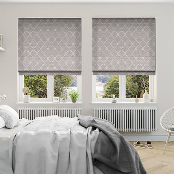 Thebes Ash Roman Blind Roman Blinds Ash And Living Rooms Simple Roman Blinds Bedroom Collection