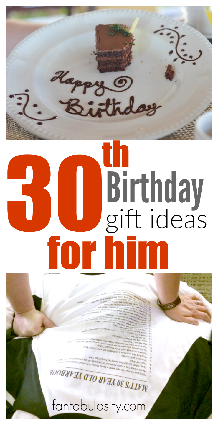 30th Birthday Gift Ideas For Him Gift Shopping For A