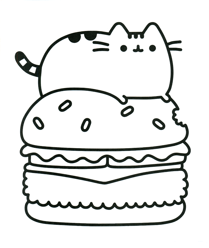Free Pusheen Coloring Pages Printable Cat Birthday Pusheen
