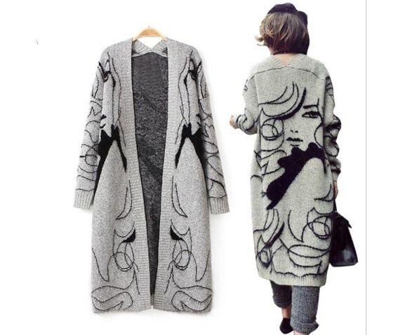 Fashion beauty casual knitting cardigan coat coats 2