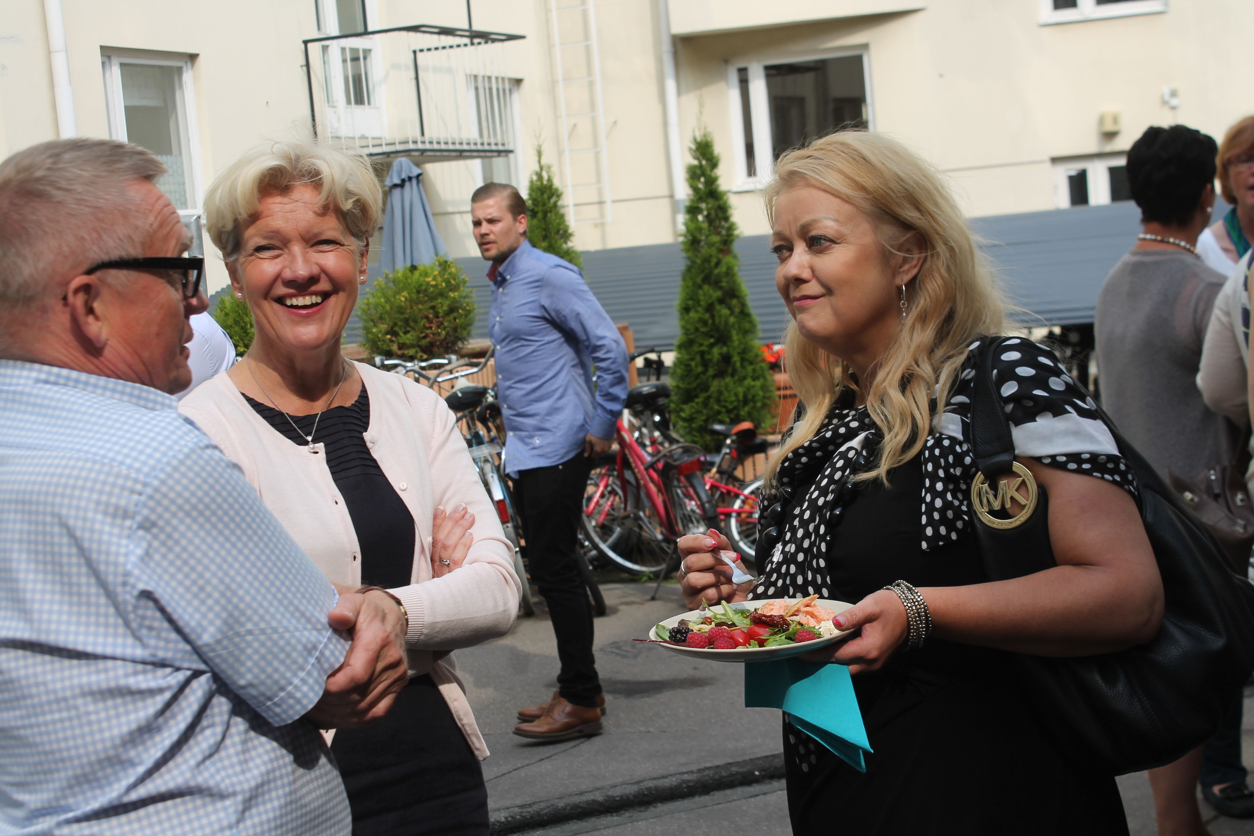Mikko Mäenpää, Margita Klemetti ja Kirsi Piispanen.