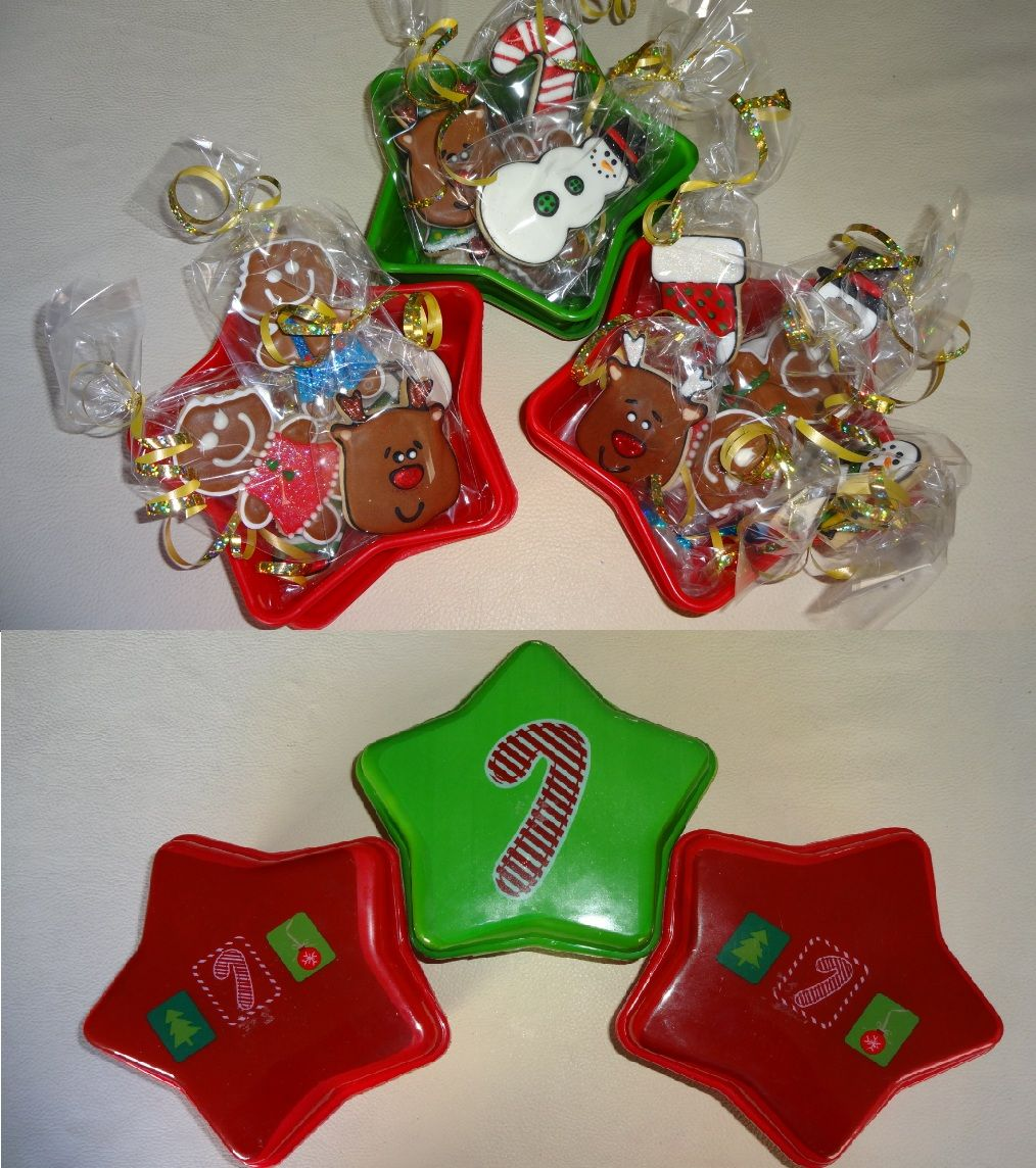 Cajas navideñas con galletas