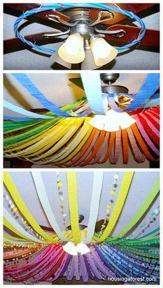 Color Wheel Ceiling Amazing DIY Birthday Party Decorations Diy Rainbow
