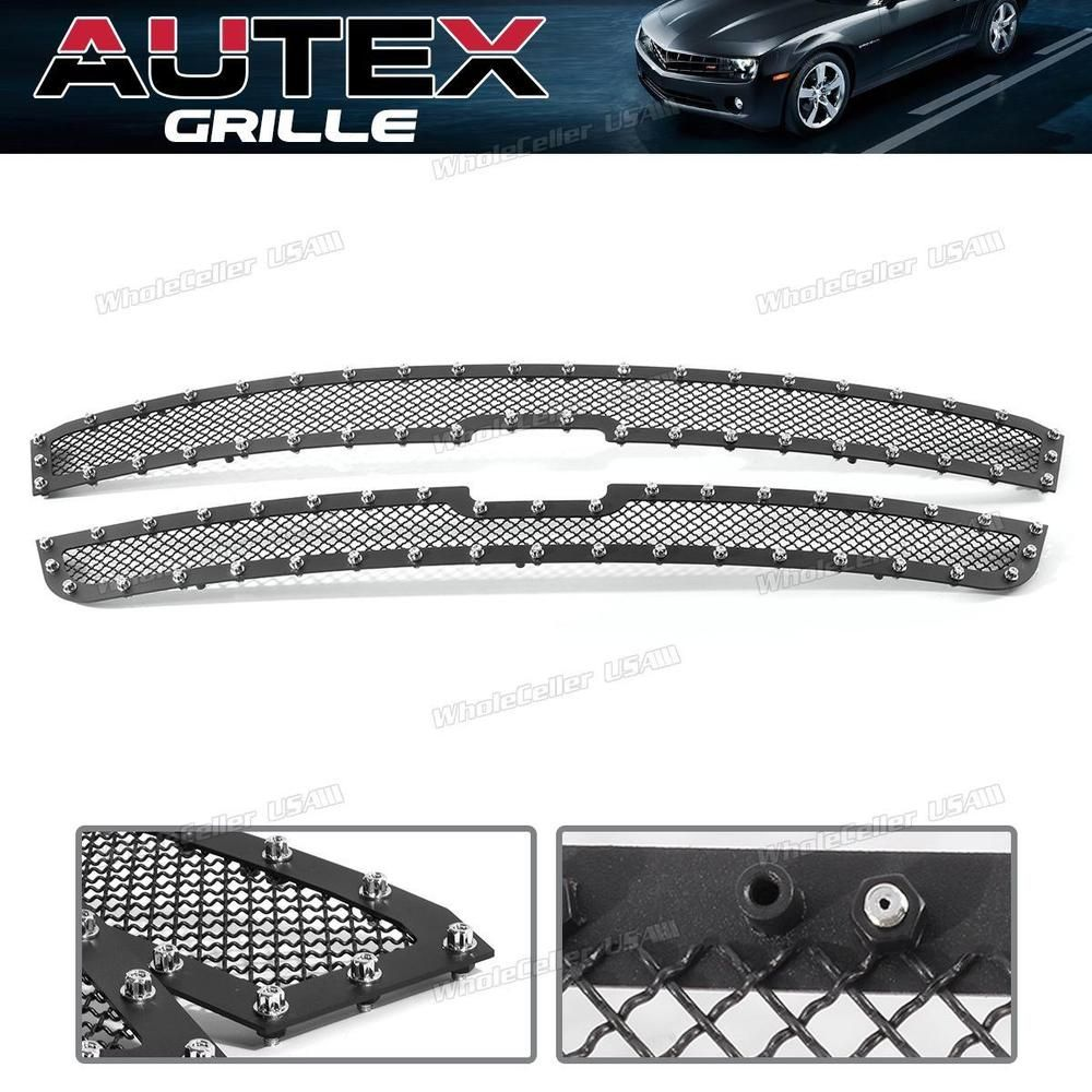 For 03 06 Chevy Avalanche 03 05 Silverado Black S S Mesh Grille Grill Main Upper Chevy Avalanche Accessories Chevy