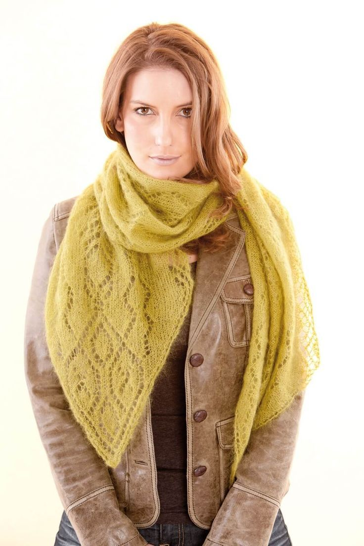 Photo of Ornamental shoulder scarf – free knitting instructions