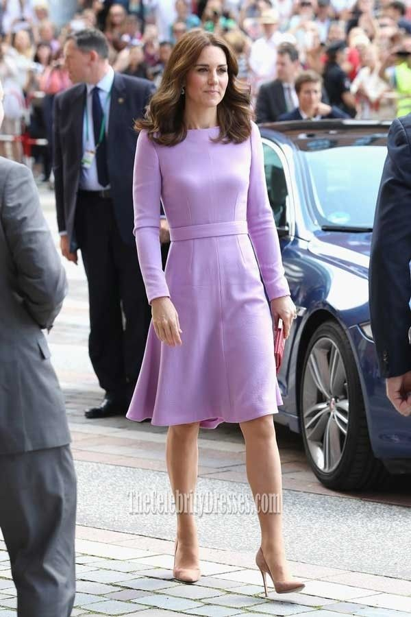 Purple Cocktail Dress Kate Middleton