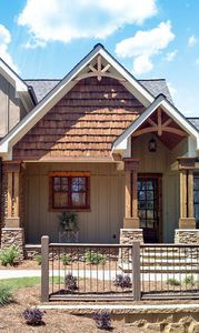 Plan 92305MX: Mountain Home with Vaulted Ceilings #vaultedceilingdecor