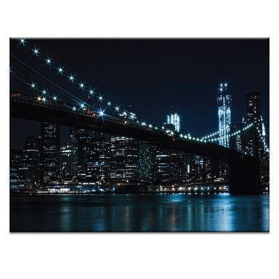 Artist Lane Brooklyn Nights by Andrew Paranavitana Photographic Print on Wrapped Canvas