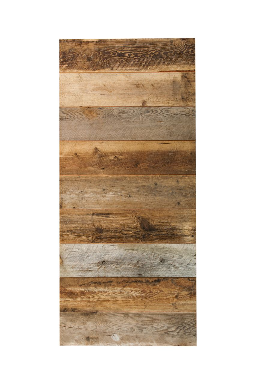 Reclaimed Douglas Fir Horizontal Plank Barn Door Real Sliding