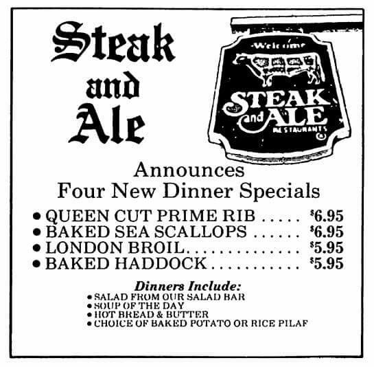 Pin By Eric Matlock On Vintage Fun Steak And Ale Vintage Menu