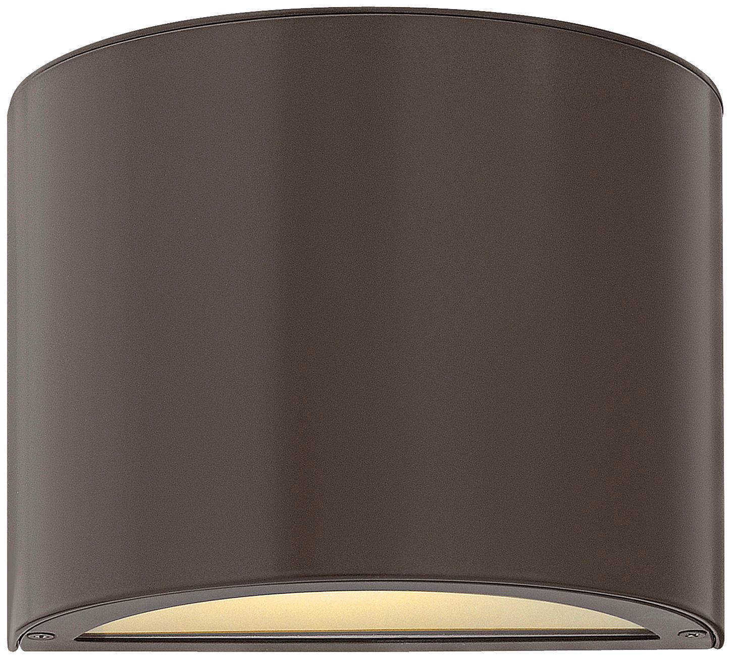 Hinkley Luna Bronze with Glass Up-Down Outdoor Wall Light - #EUV1676 - Euro Style Lighting
