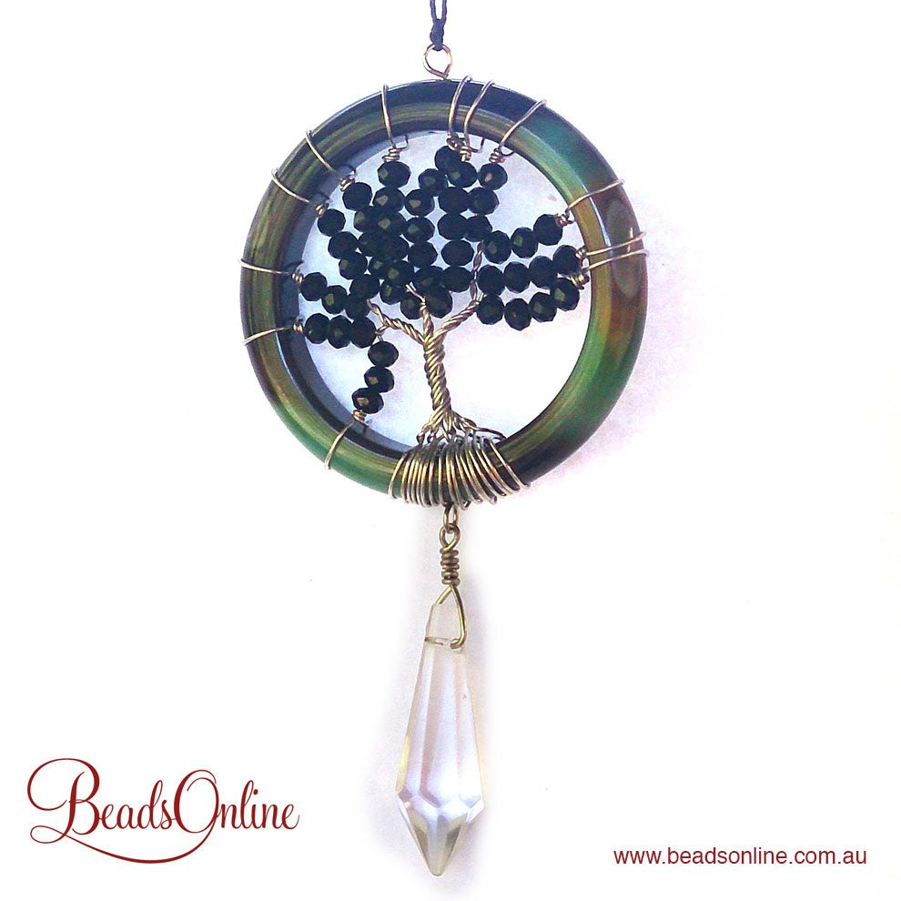 How to make a Agate Ring - Tree of Life Suncatcher | Jewelry ...