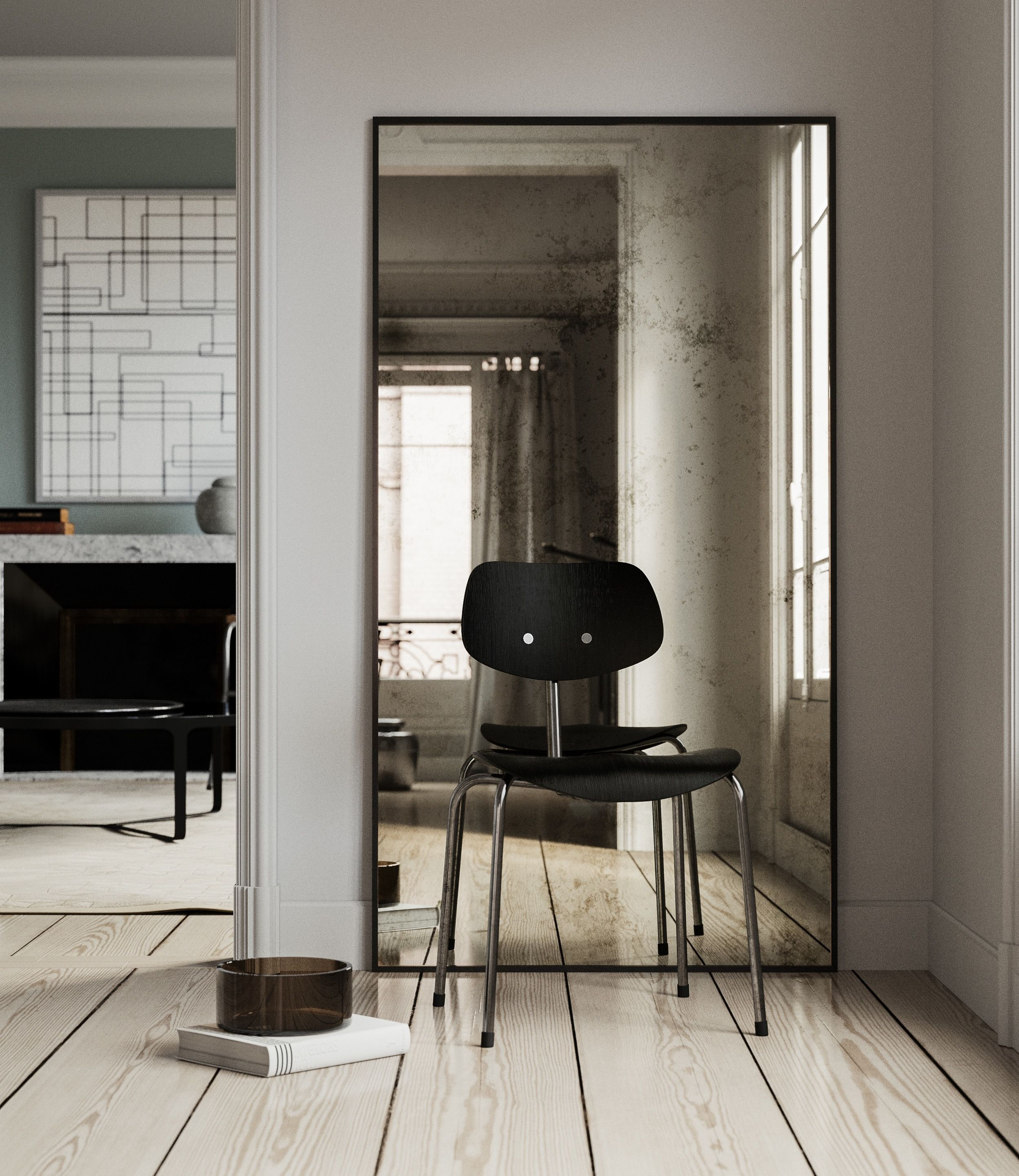 Antiqued Leaning Mirror Mirrors Pinterest