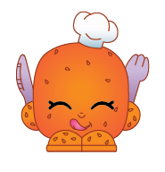Rolly Roll (Shopkins 1-145) Rolly Roll is a golden brown dinner roll topped with sesame seeds. He is wearing a white chef's hat and holds in his hands a purple knife and fork. Rolly Roll is an exclusive Shopkin from Season One. He is included in the Bakery Stand Playset with Hot Apple Pie.