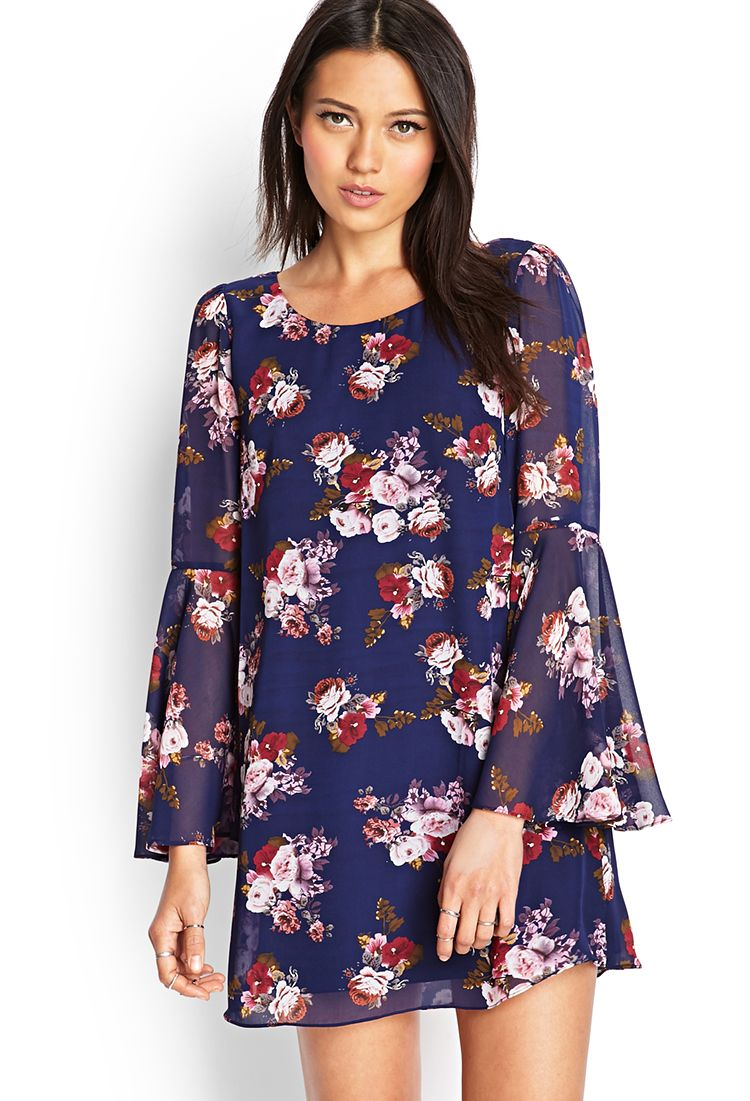 Rose Print Shift Dress   FOREVER21 #SummerForever   Clothing ...