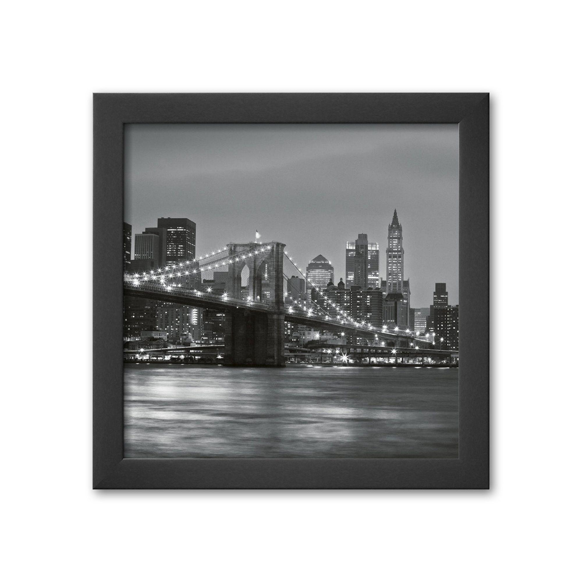 Artcom Brooklyn Bridge Framed Art Print By Torsten Hoffmann, Multicolor