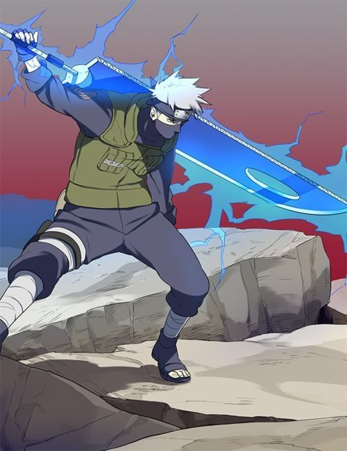Kakashi looks so cool with the sword! » Naruto... But anyway... I don't like these gigantic swords -.-