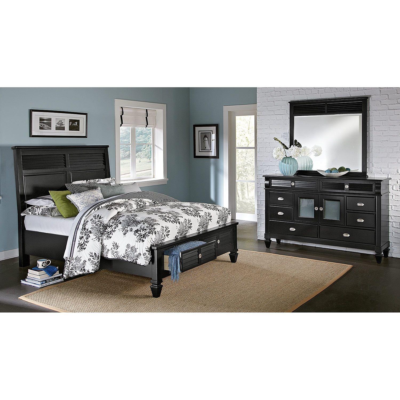 Best Charleston Bay Black Ii Bedroom 5 Pc King Storage Bedroom 640 x 480