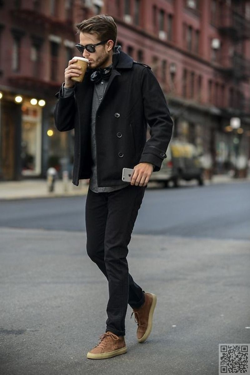 casual Run café , Style urbain s\u0027accroche 39 sexy et chic masculin →  Fashion