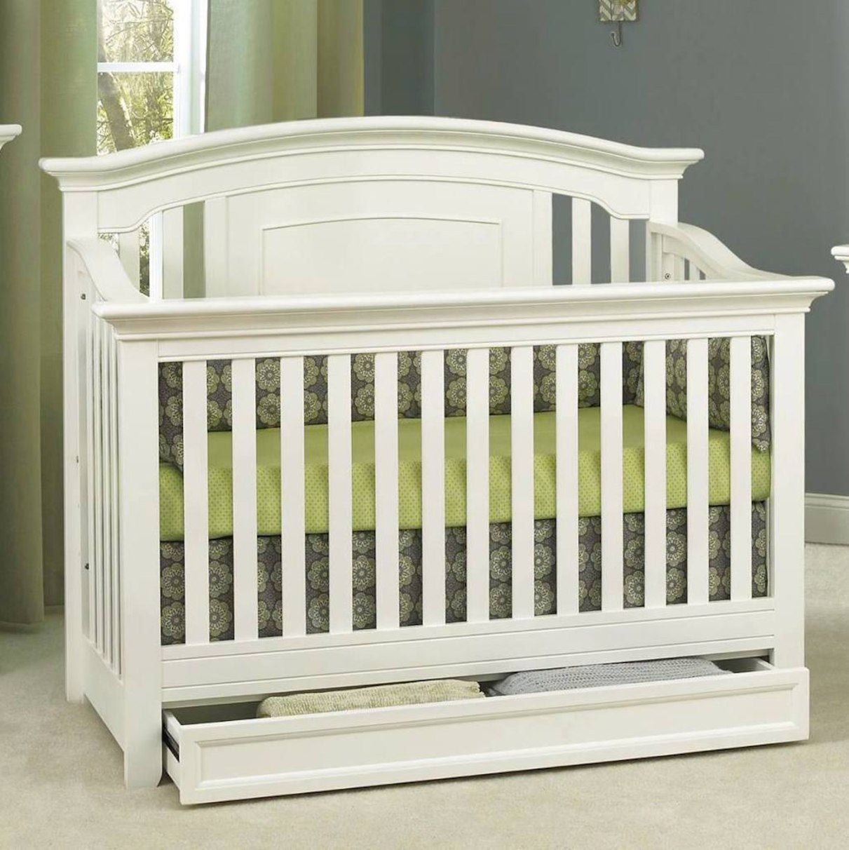Baby Cache Harbor 4-in-1 Convertible Crib with Storage ...