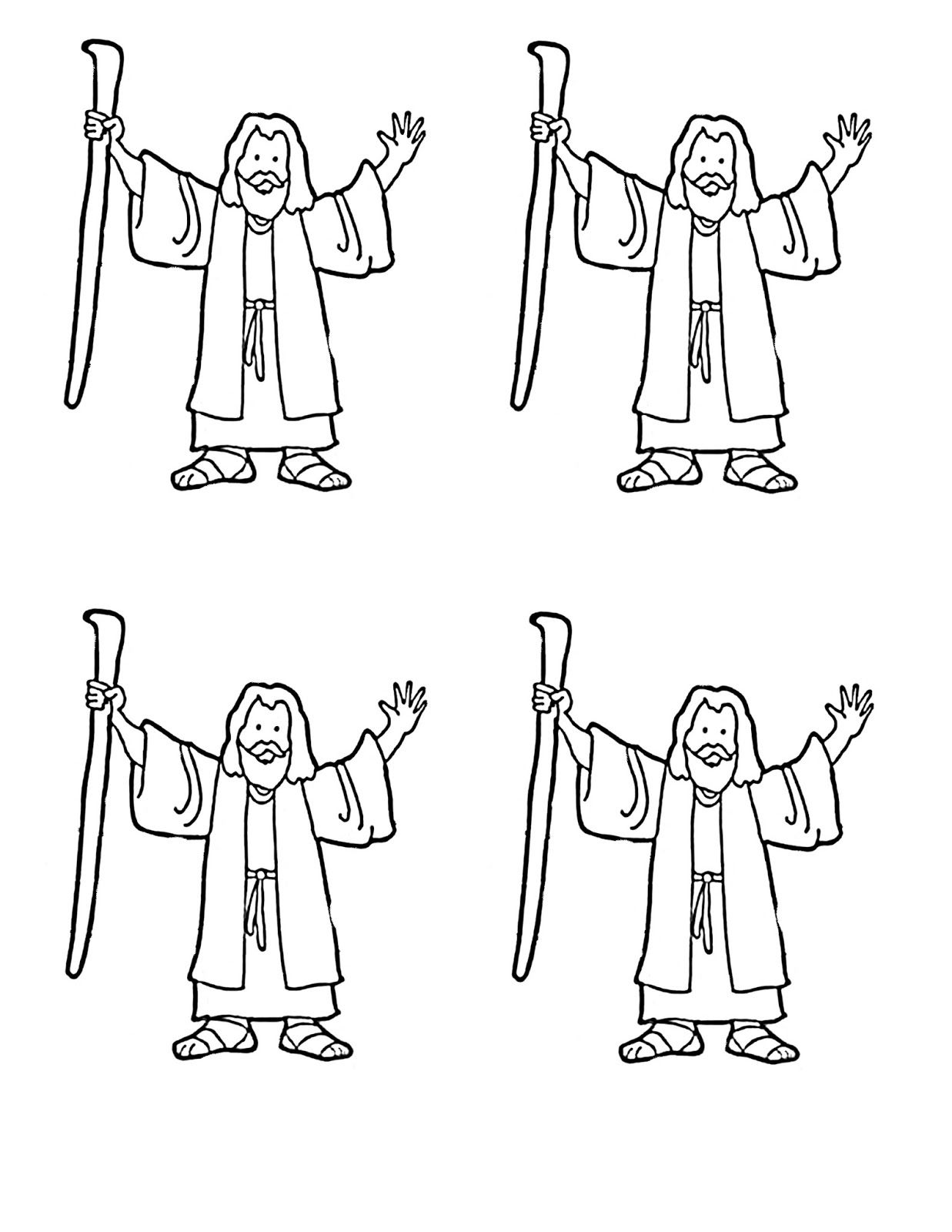 Moses coloring page for red sea craft moppets sunday for Coloring pages for sunday school preschool