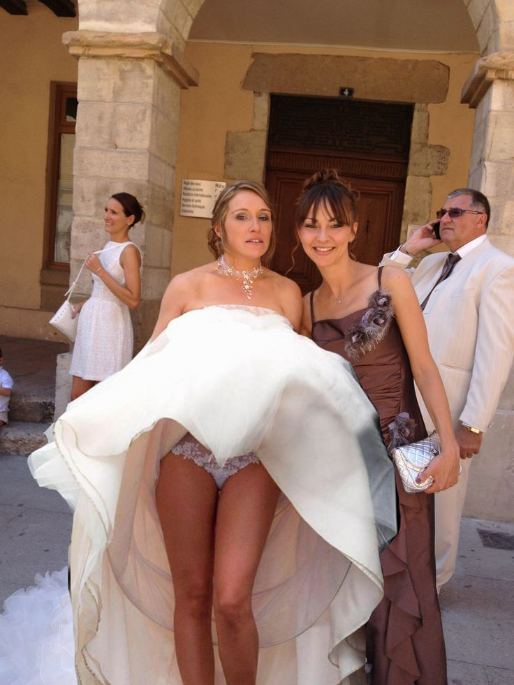 For Bride and bridesmaid flashing know