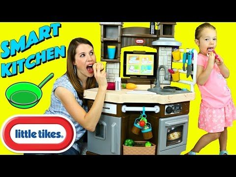 Little Tikes Cook N Learn Smart Kitchen Ipad App Slicing Food Cooking Recipes By Disneycartoys Youtube Kitchen Ipad Smart Kitchen Best Kids Toys