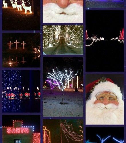 santa land drive through christmas park