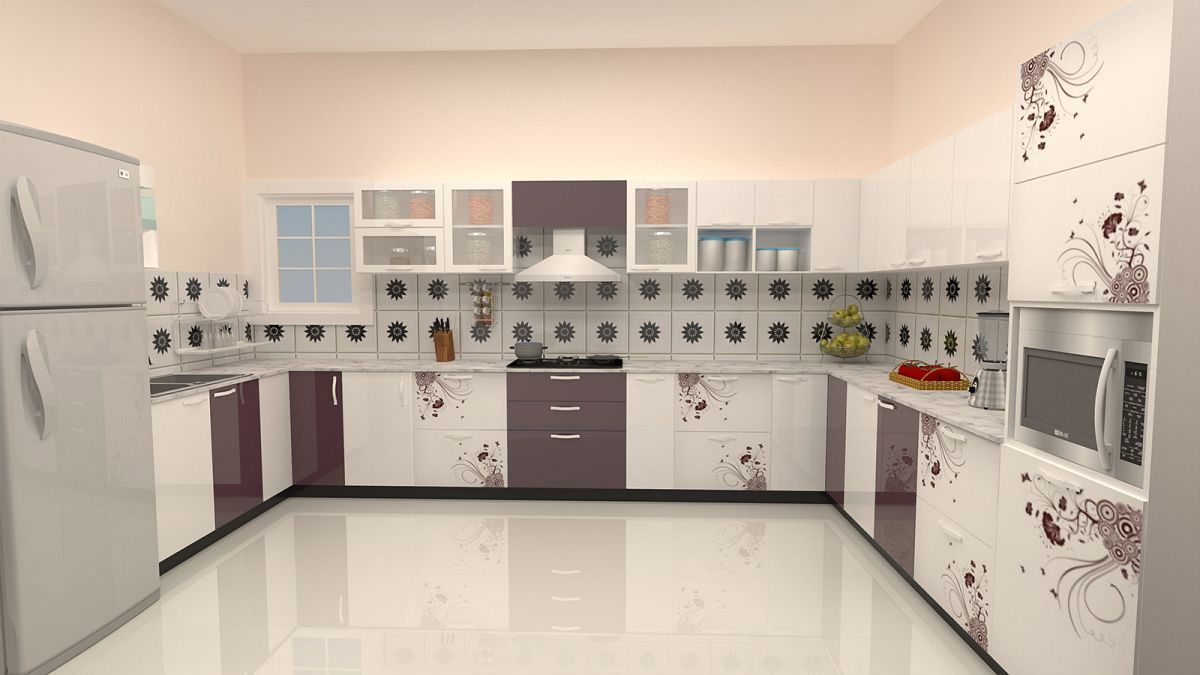U shaped small parallel modular kitchen designs with ikea ...