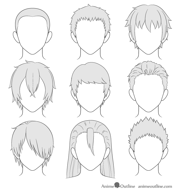 12 boy hair Drawing ideas