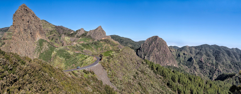 Roque de Agando, La Gomera, panorama