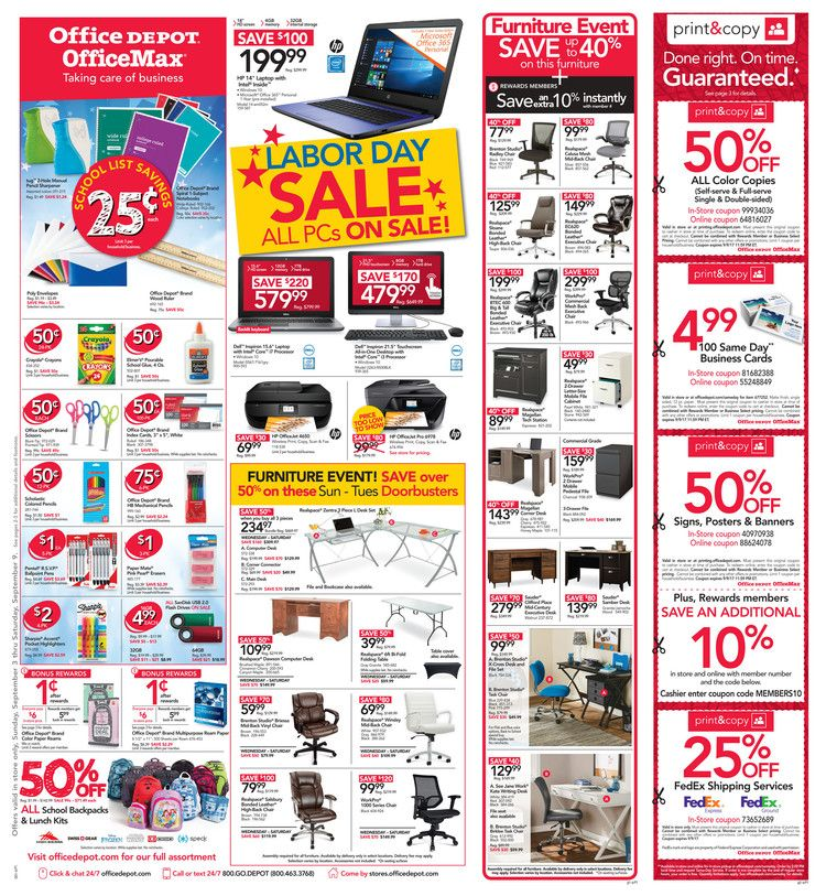 Office Depot  Officemax Ad September      HttpWww
