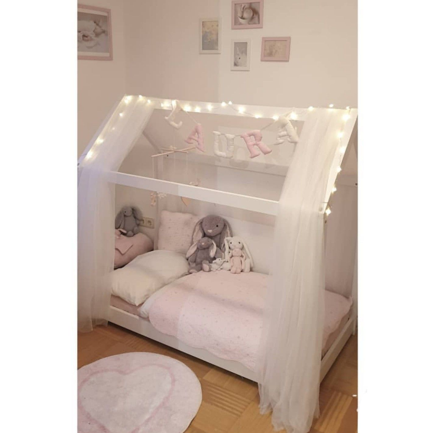 #girlbed #hausbed #bed #pink #girlsroom