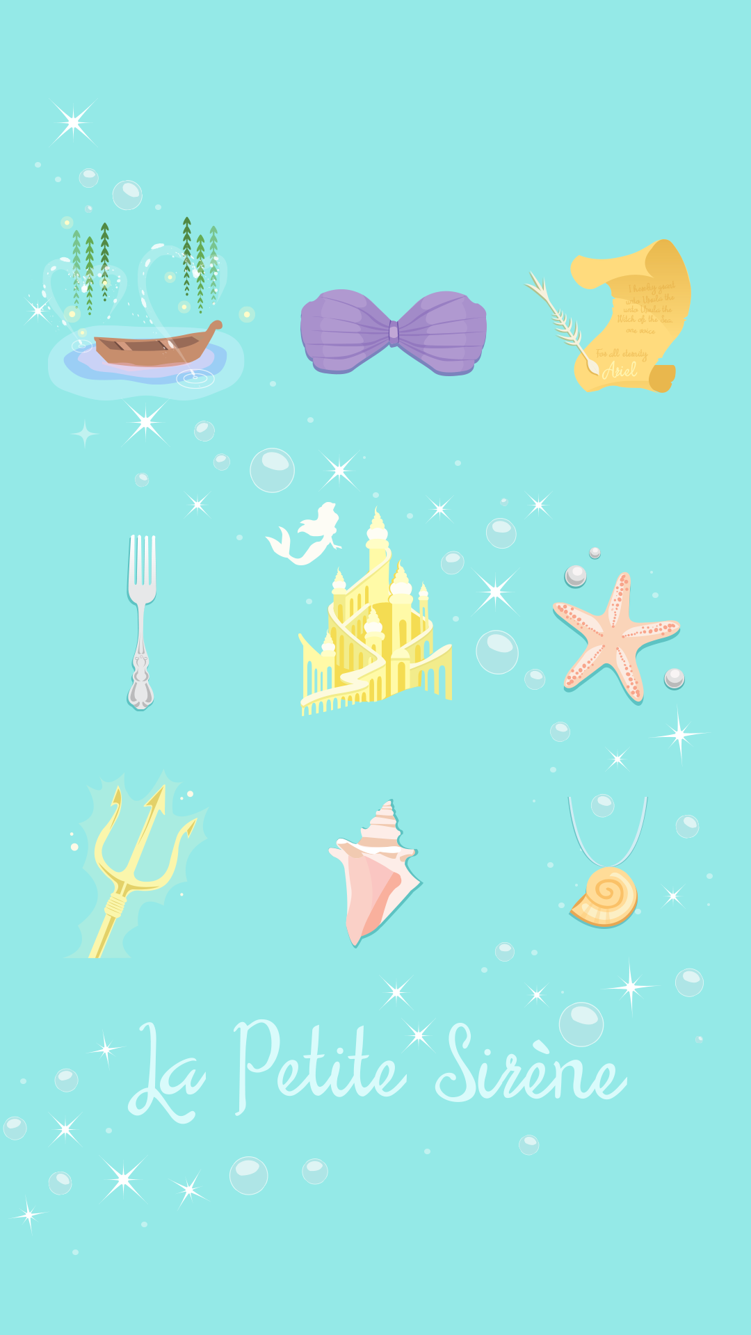 Iphone La Petite Sirene Little Mermaid Ariel Wallpaper Crecre Fond Decran