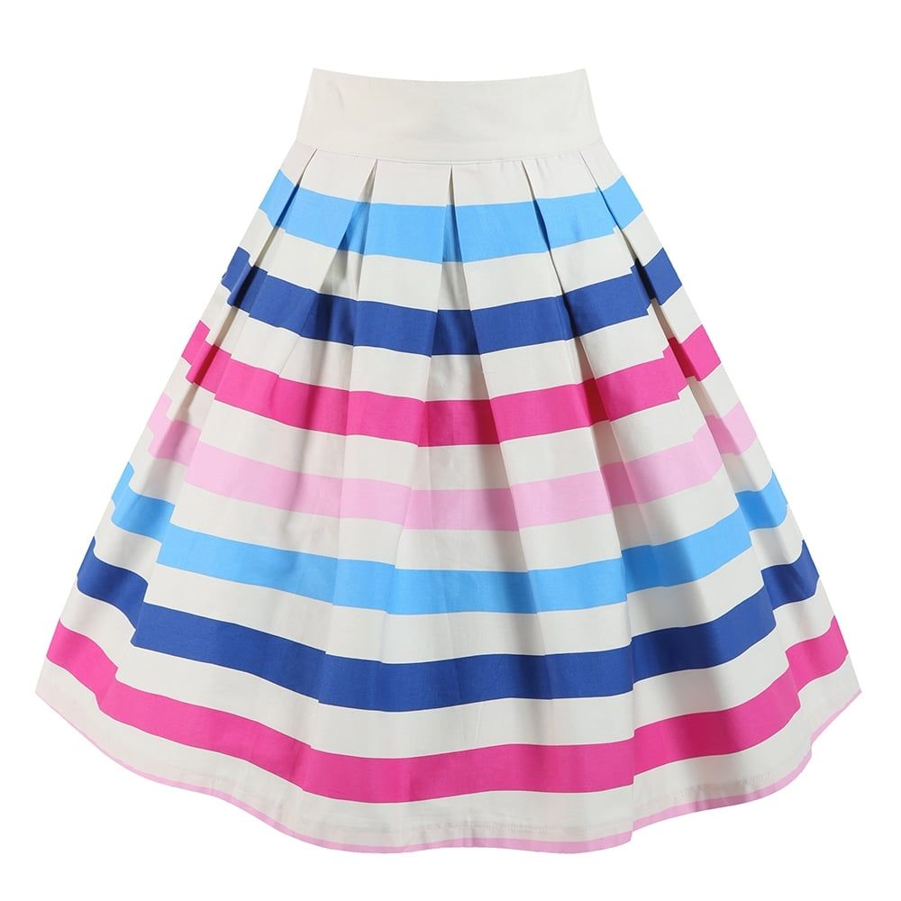 'Tippi' Ice Cream Stripe Swing Skirt